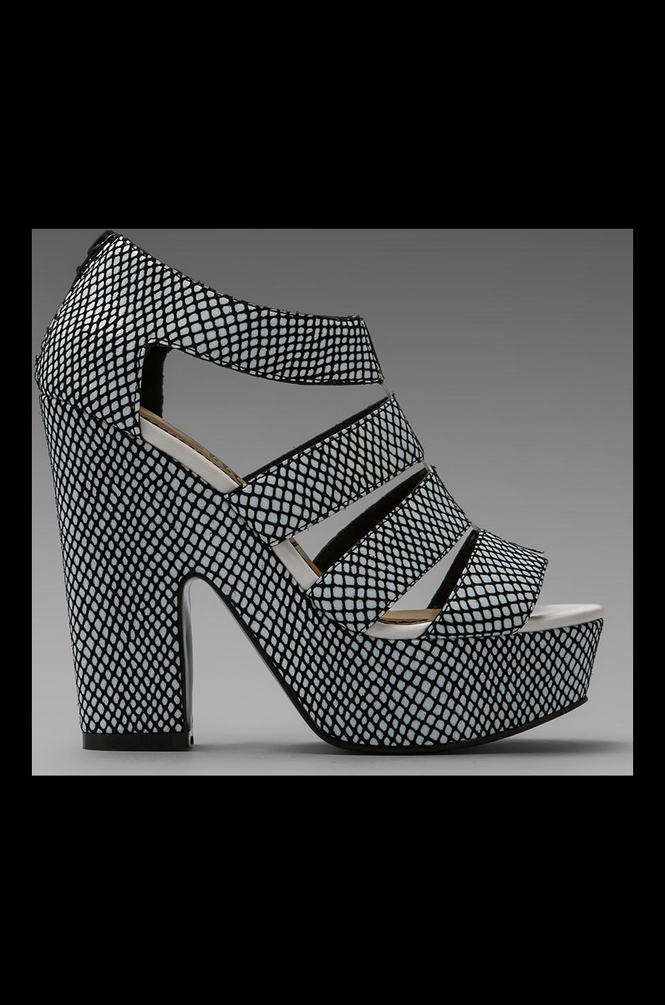 Nanette Lepore Addicted To You Heel in White Embossed Python