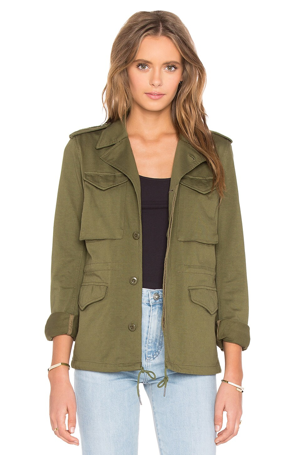NLST Skinny M-43 Military Jacket in Olive