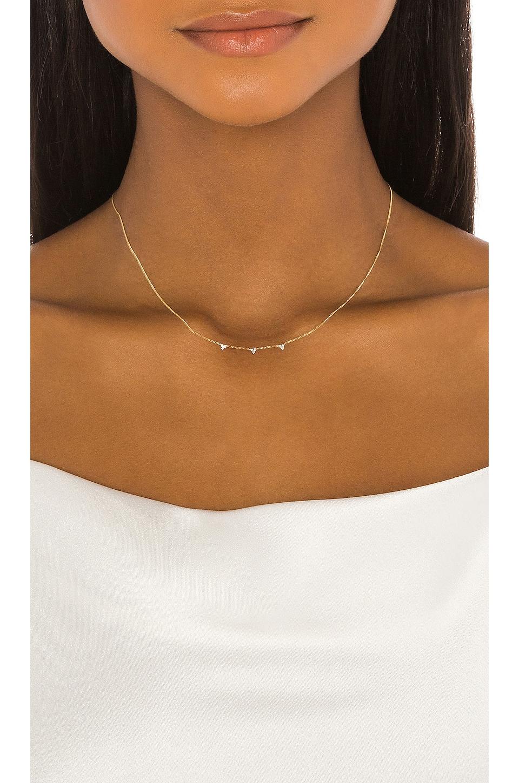 Natalie Marie Jewellery Kalani Trio Diamond Necklace in Gold