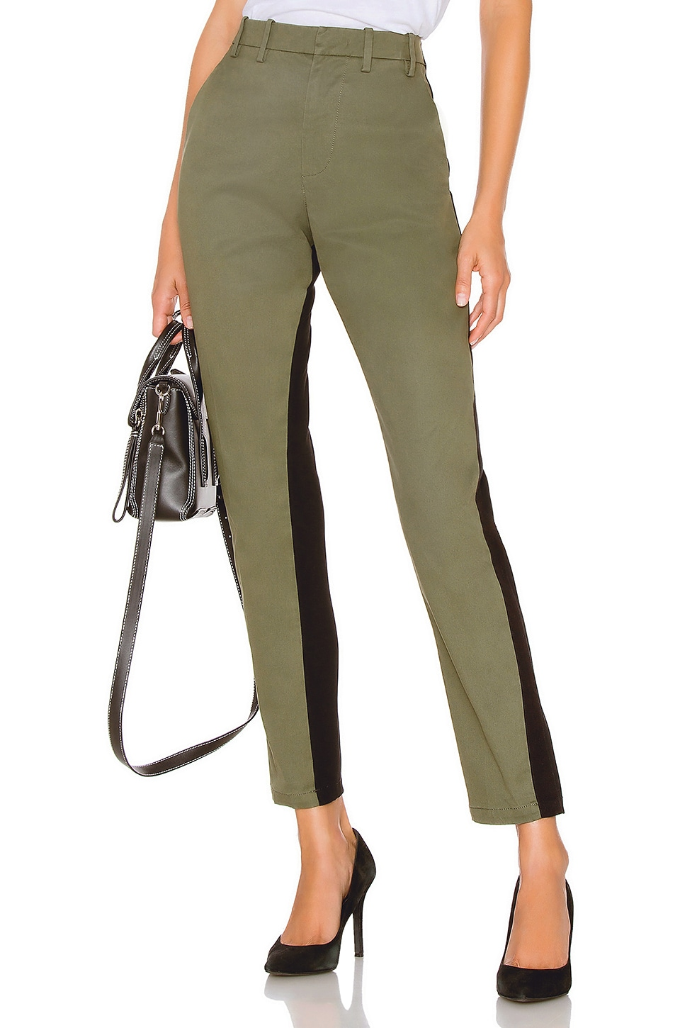 No. 21 Cropped Pant in Salvia