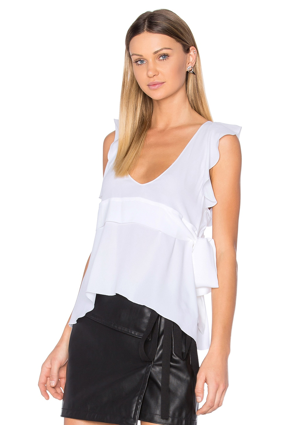 No. 21 Scoop Neck Blouse in White