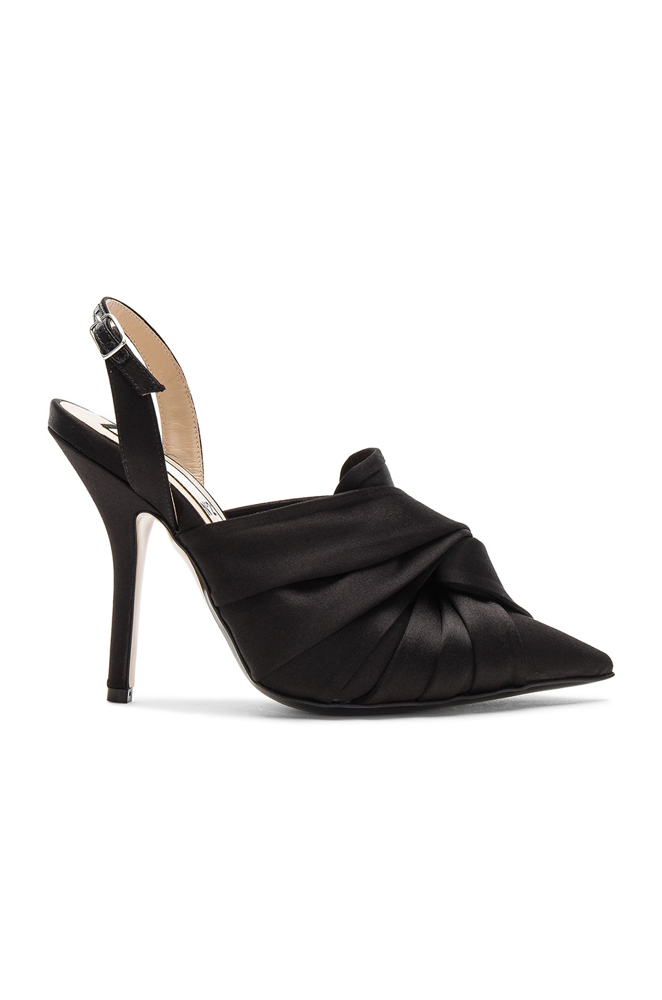Satin Ankle Strap Bow Heel by No. 21