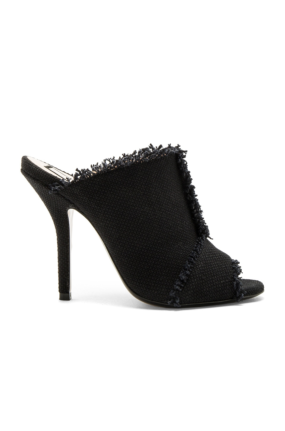 No. 21 Frayed Mule in Nero