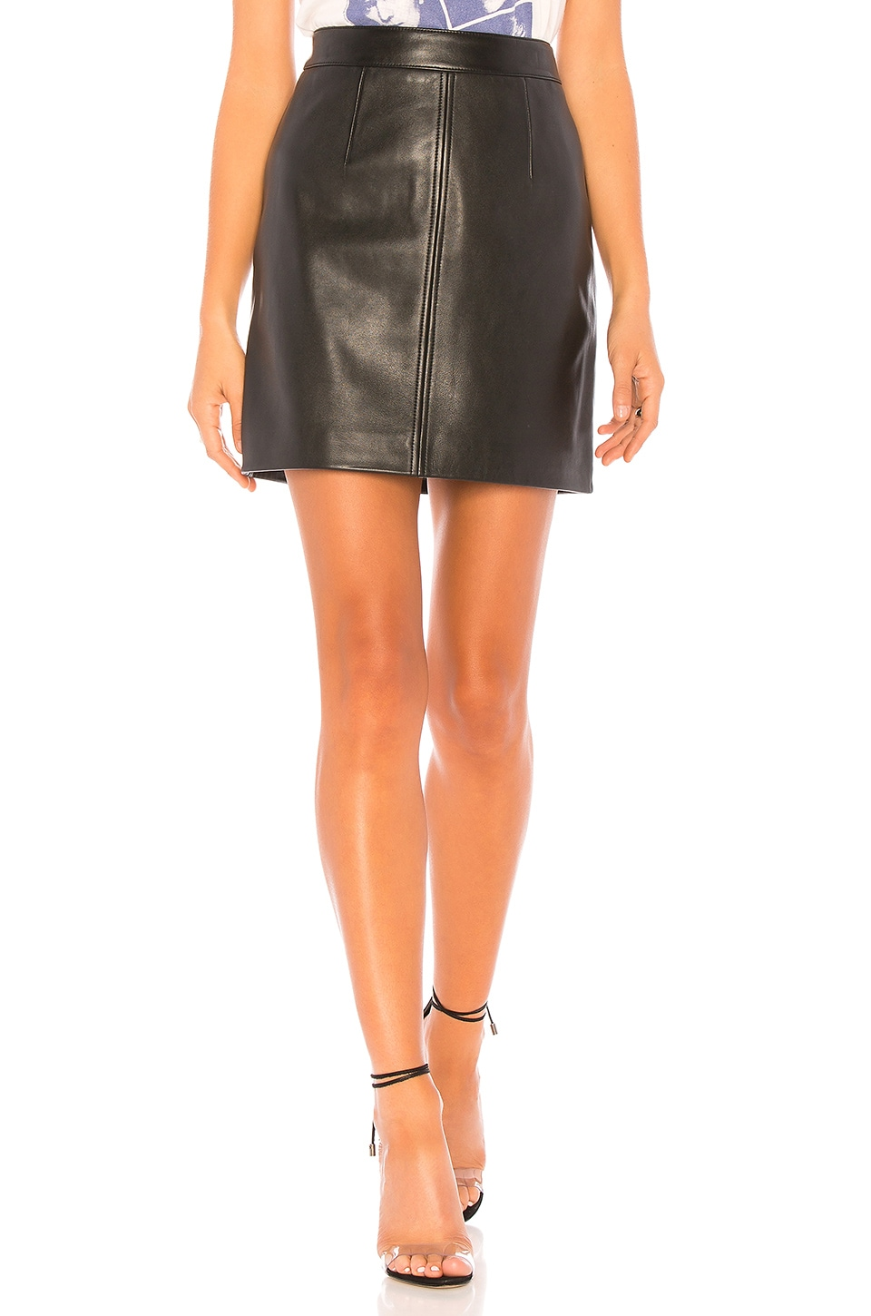 CLEANLINE LEATHER SKIRT