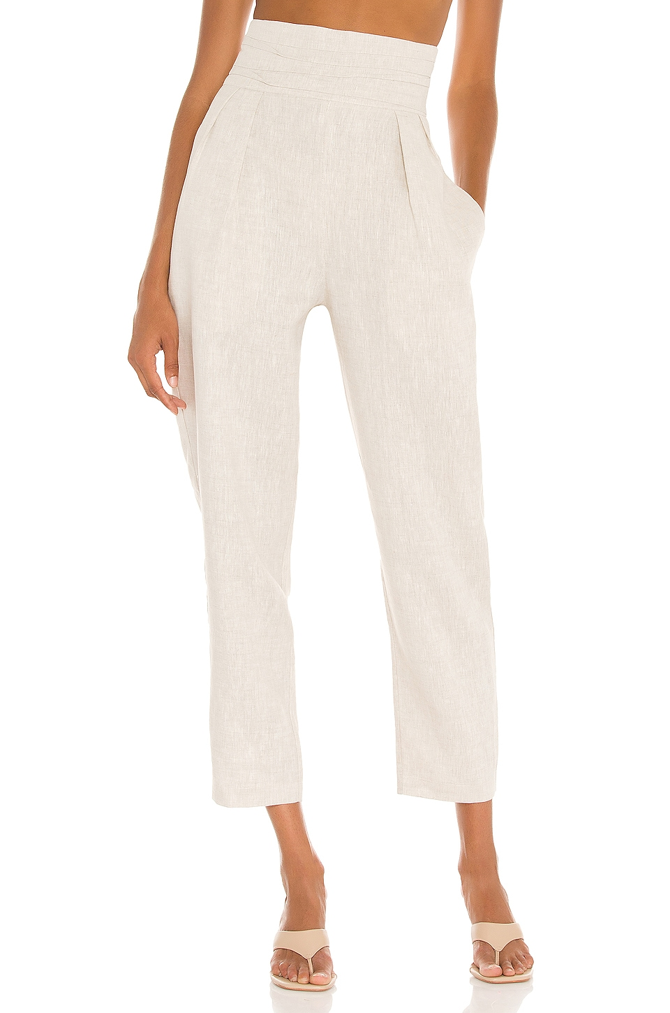 NONchalant Philipa High Waisted Pant in Beige