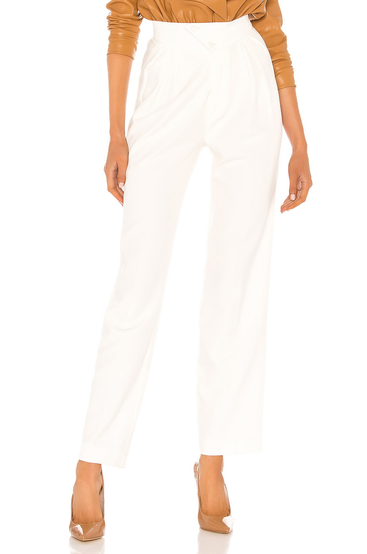 NONchalant Britt Pleated Trouser in Off White