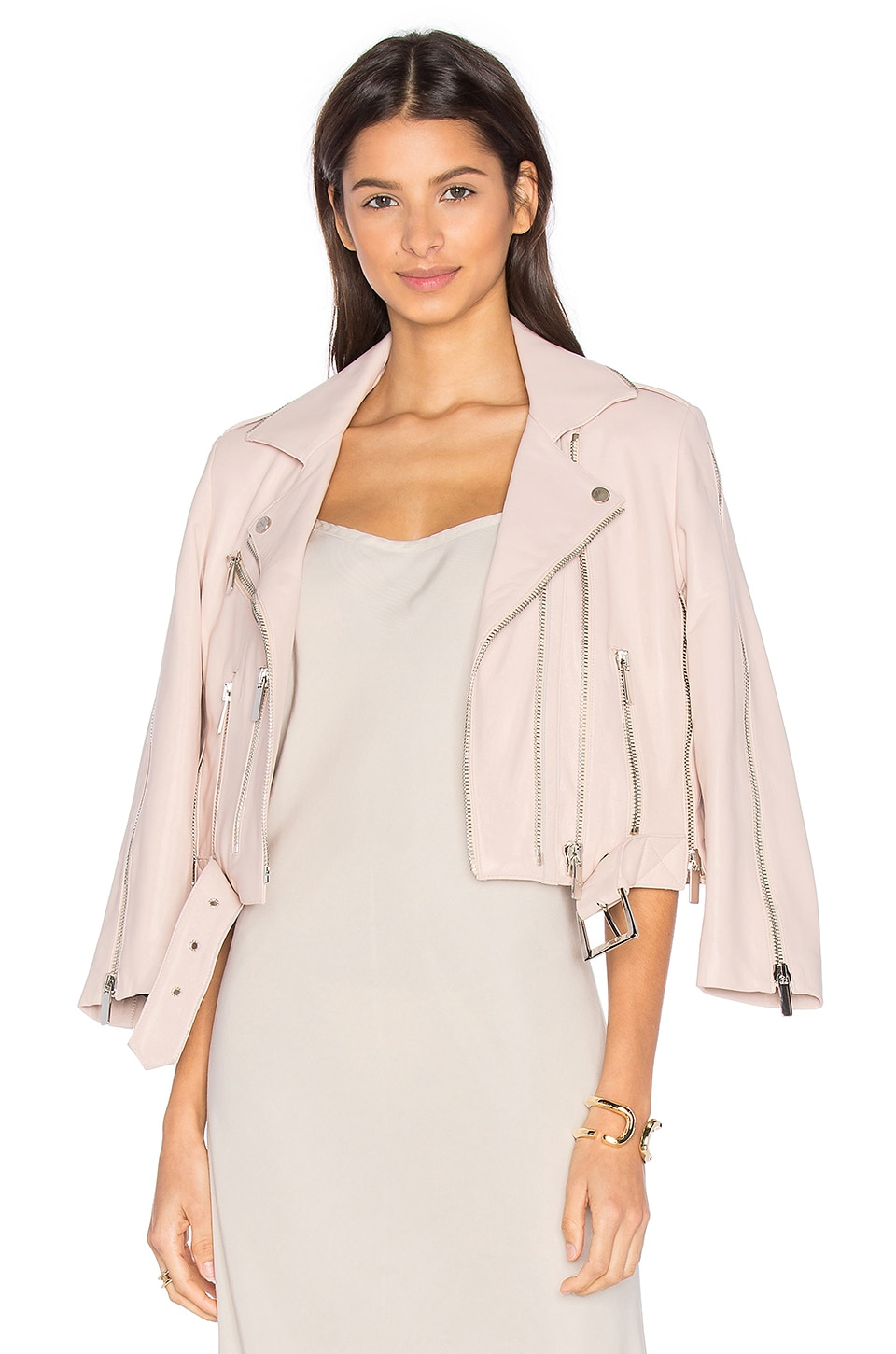 NOUR HAMMOUR Avalon Jacket in Ice Pink