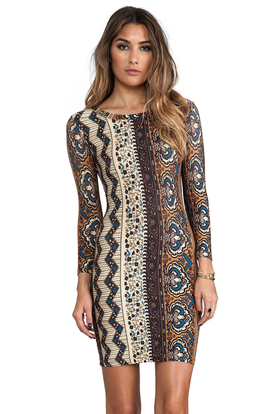 NOVELLA ROYALE Hyperion Mini Dress in Tangier