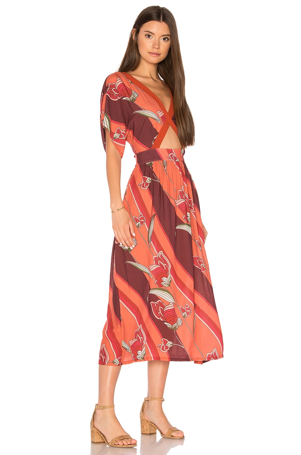 NOVELLA ROYALE Helena dress in Rusty Geo Bloom