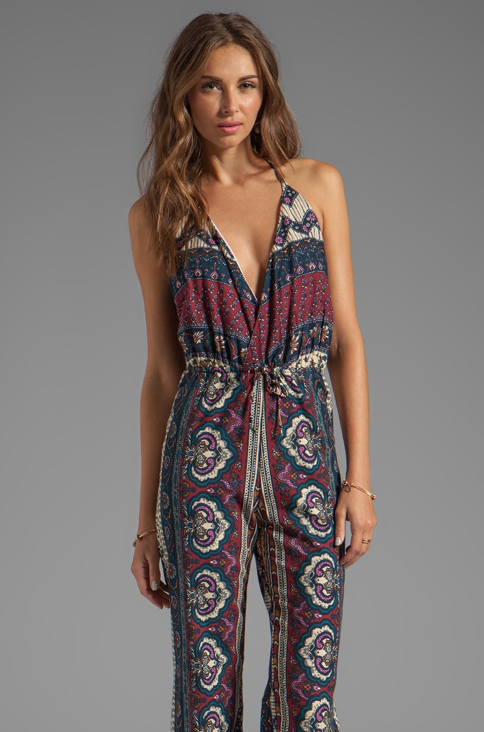 NOVELLA ROYALE Lady Jumpsuit in Plum Tangier