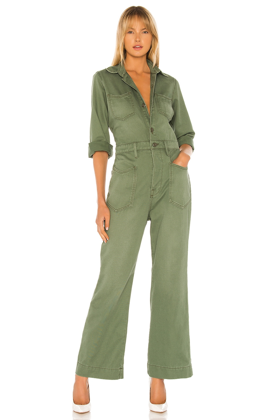 NSF Charley Arrow West Jumpsuit in Military Green