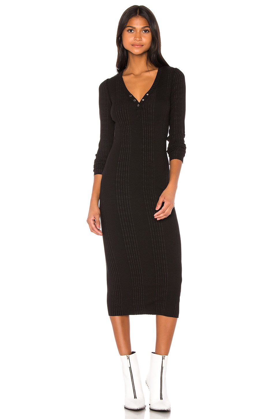NSF Sarah Henley Dress in Black