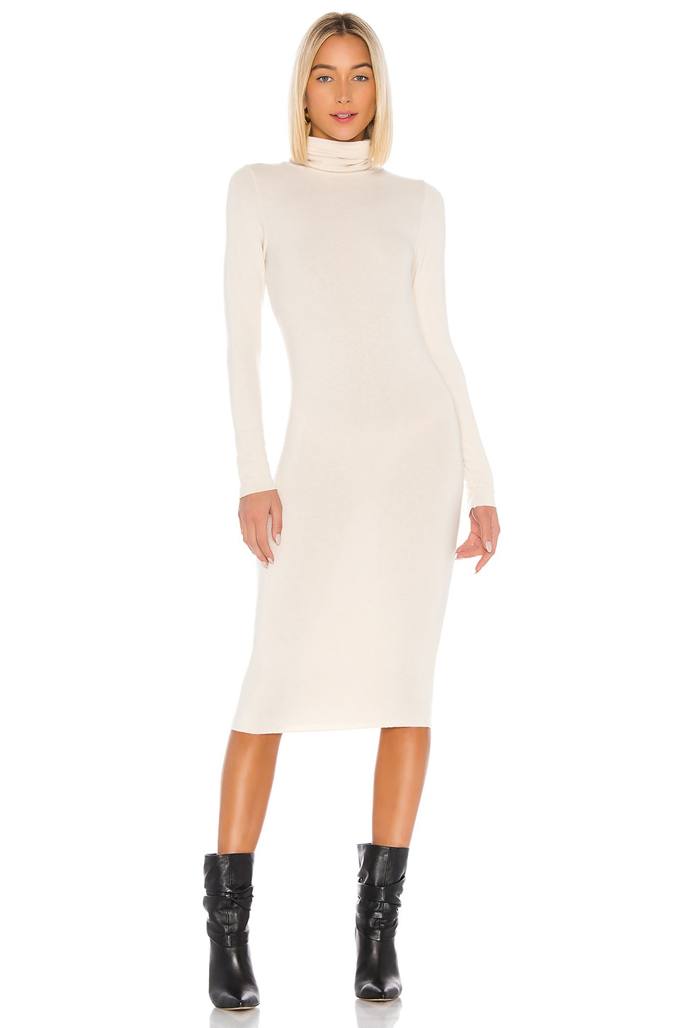 NSF Pia Turtleneck Dress in Parch