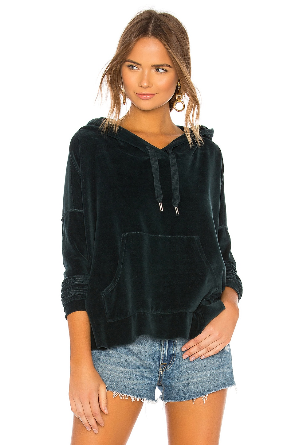 NSF Cakie Crop Hoodie in Emerald