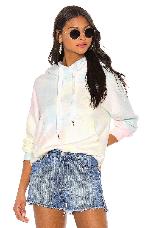 NSF Lissete Pullover Hoodie in Neon Pastel Tie Dye