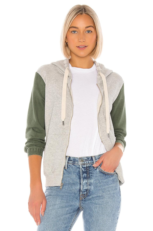 NSF Gretchen Zip Up Hoodie in Heather Grey