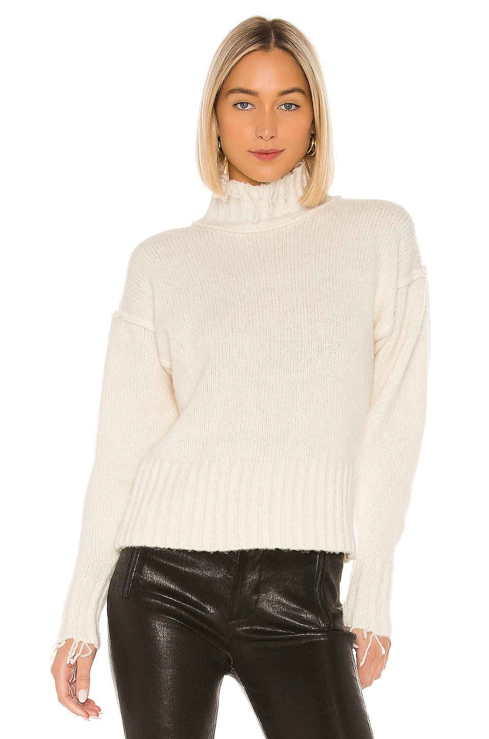 NSF Kori Turtleneck Sweater in Ivory