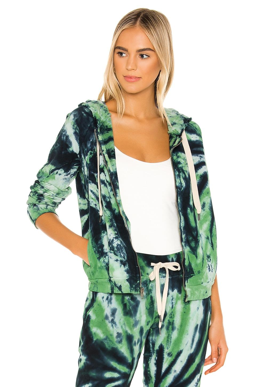 NSF Chada Crop Zip Hoodie in Clover Tie Dye