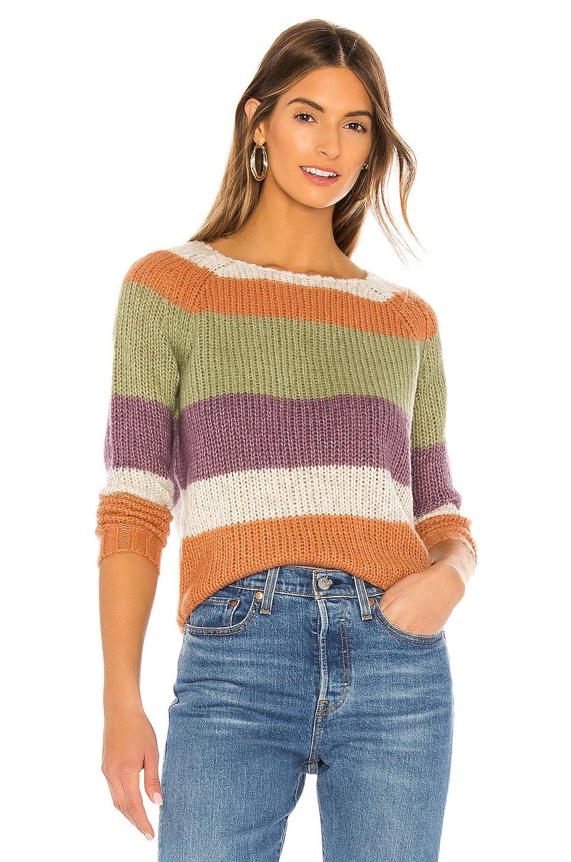 NSF Daja Raglan Striped Sweater in Multi Stripe