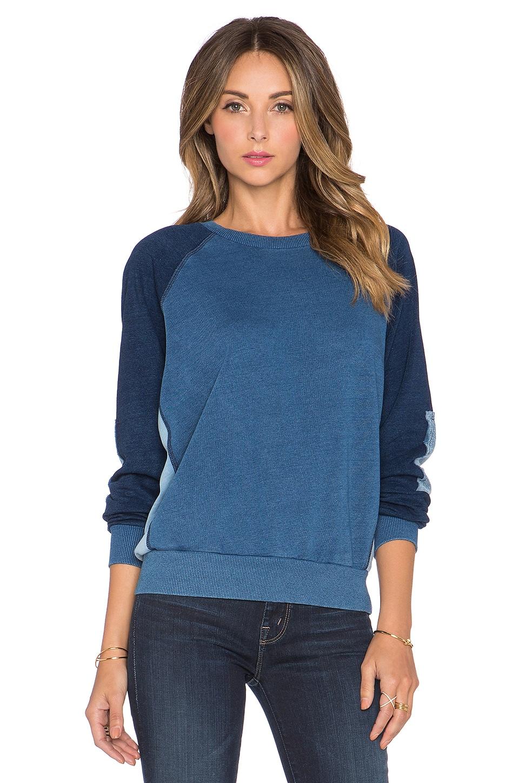 NSF Brielle Colorblock Sweatshirt in Indigo Patch