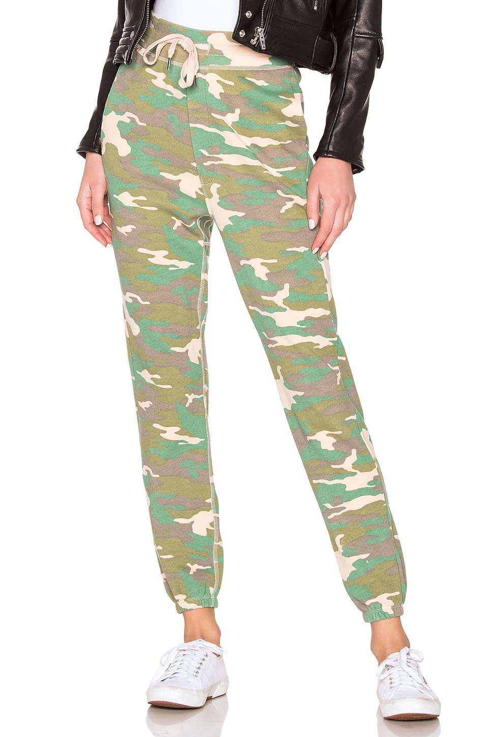 NSF Isabella High Waisted Sweatpant in Fuzz Camo