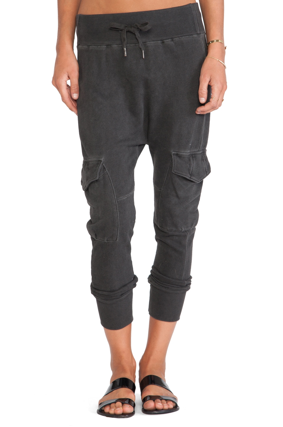 NSF Smith Sweatpant in Oil Wash Black