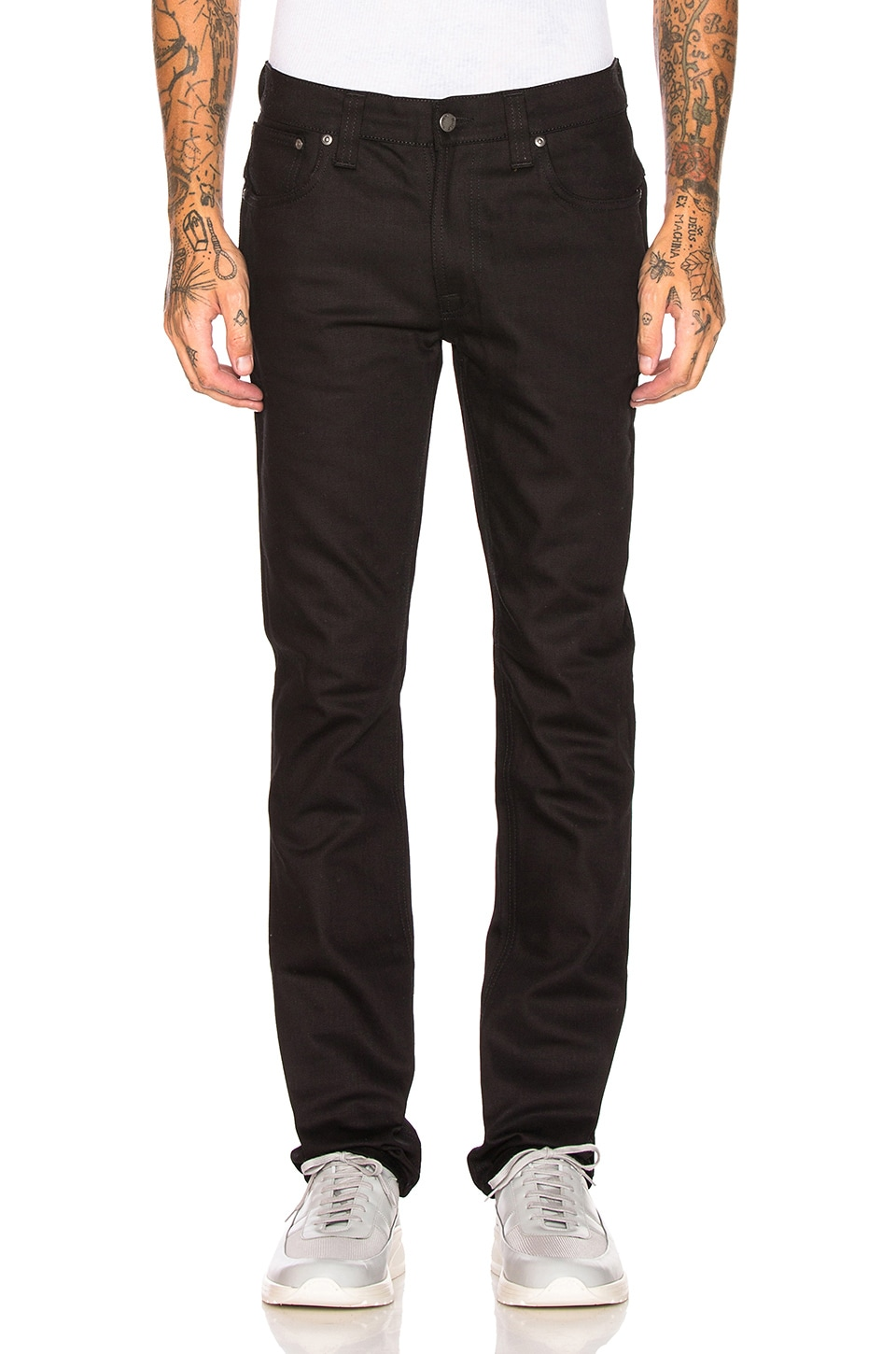 Nudie Jeans Thin Finn en Org. Dry Cold Black
