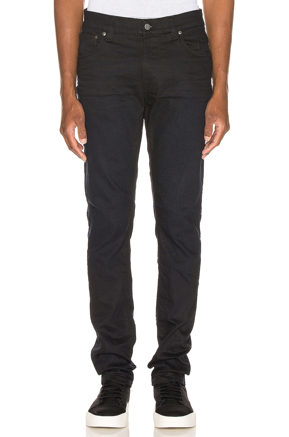 Nudie Jeans Thin Finn Worn in Black Coated