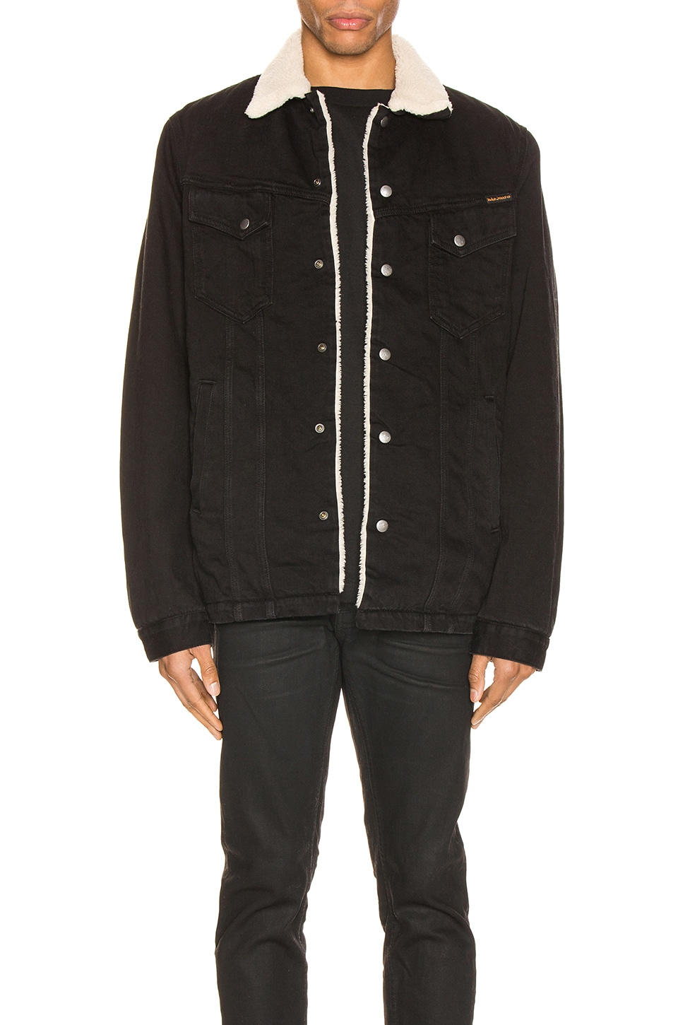 Nudie Jeans Lenny Jacket in Black Worn