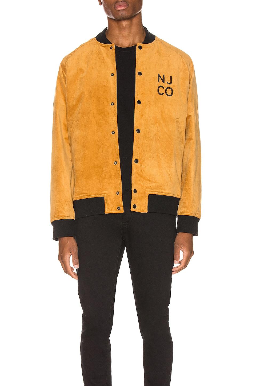 Nudie Jeans Mark Velvet Bomber Jacket in Dandelion