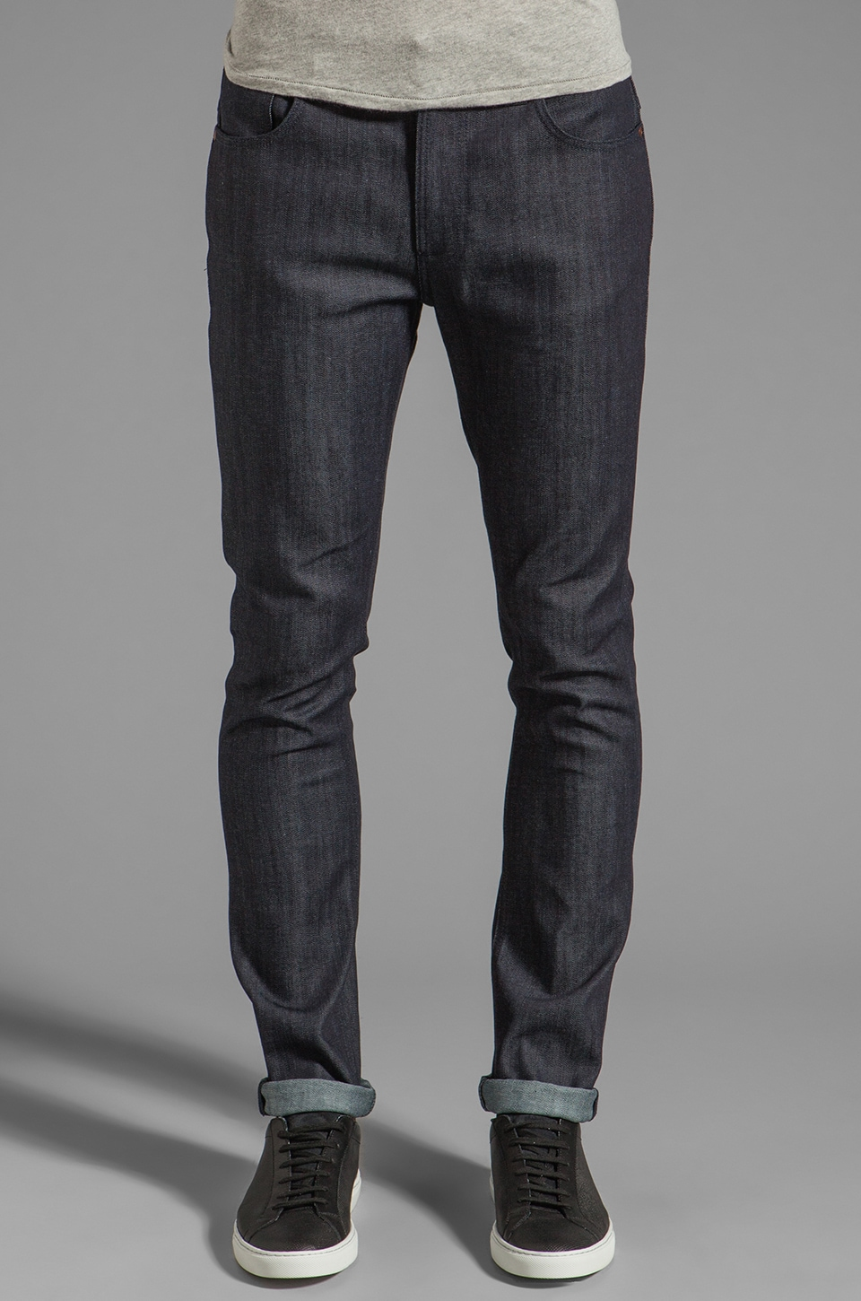 Nudie Jeans Tape Ted in Org Dry Grey Embo