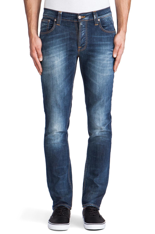 Nudie Jeans Grim Tim in Organic White Knee