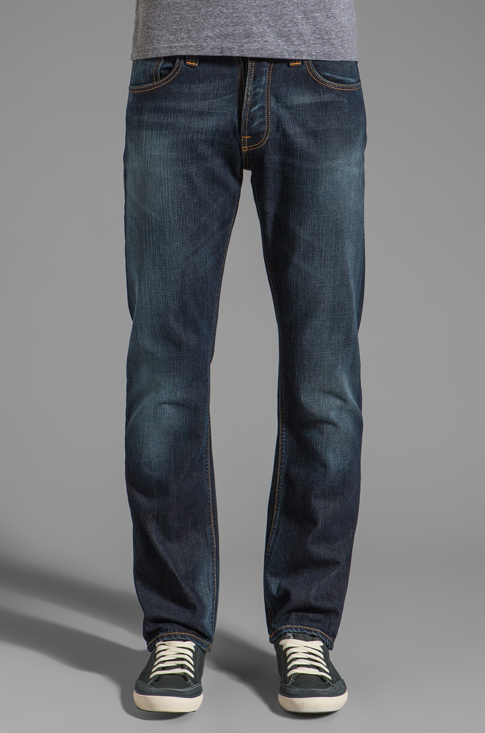 Nudie Jeans Average Joe in Org. Contrast Indigo