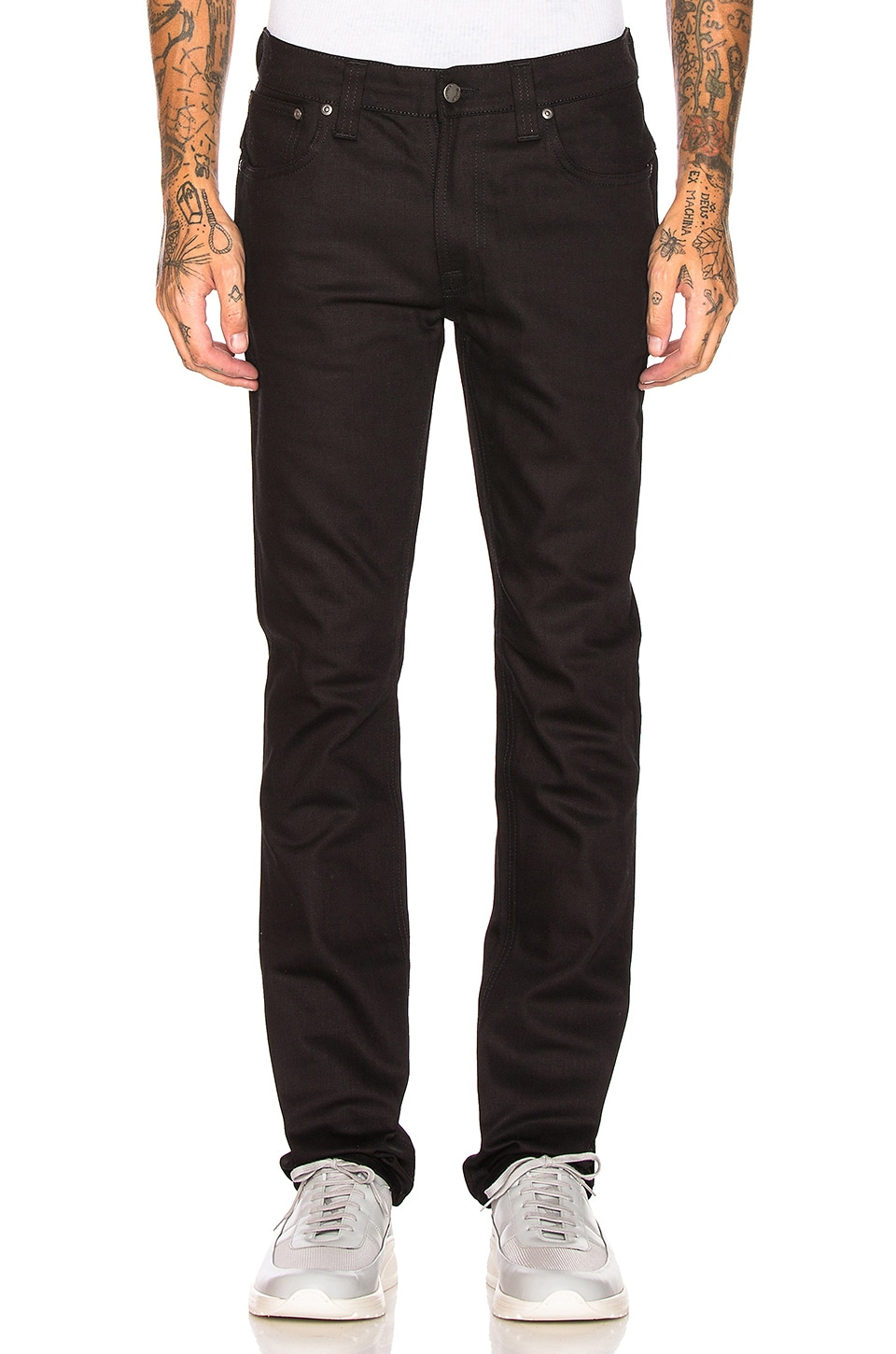 Nudie Jeans Thin Finn in Org. Dry Cold Black