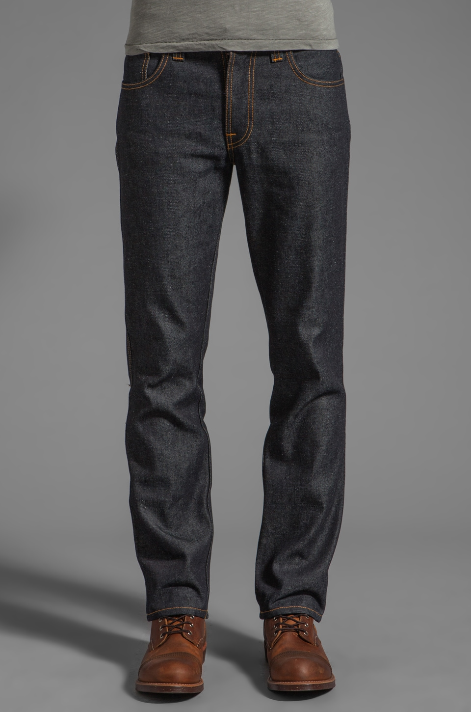 Nudie Jeans Slim Jim in Org. Dry Deep Indigo