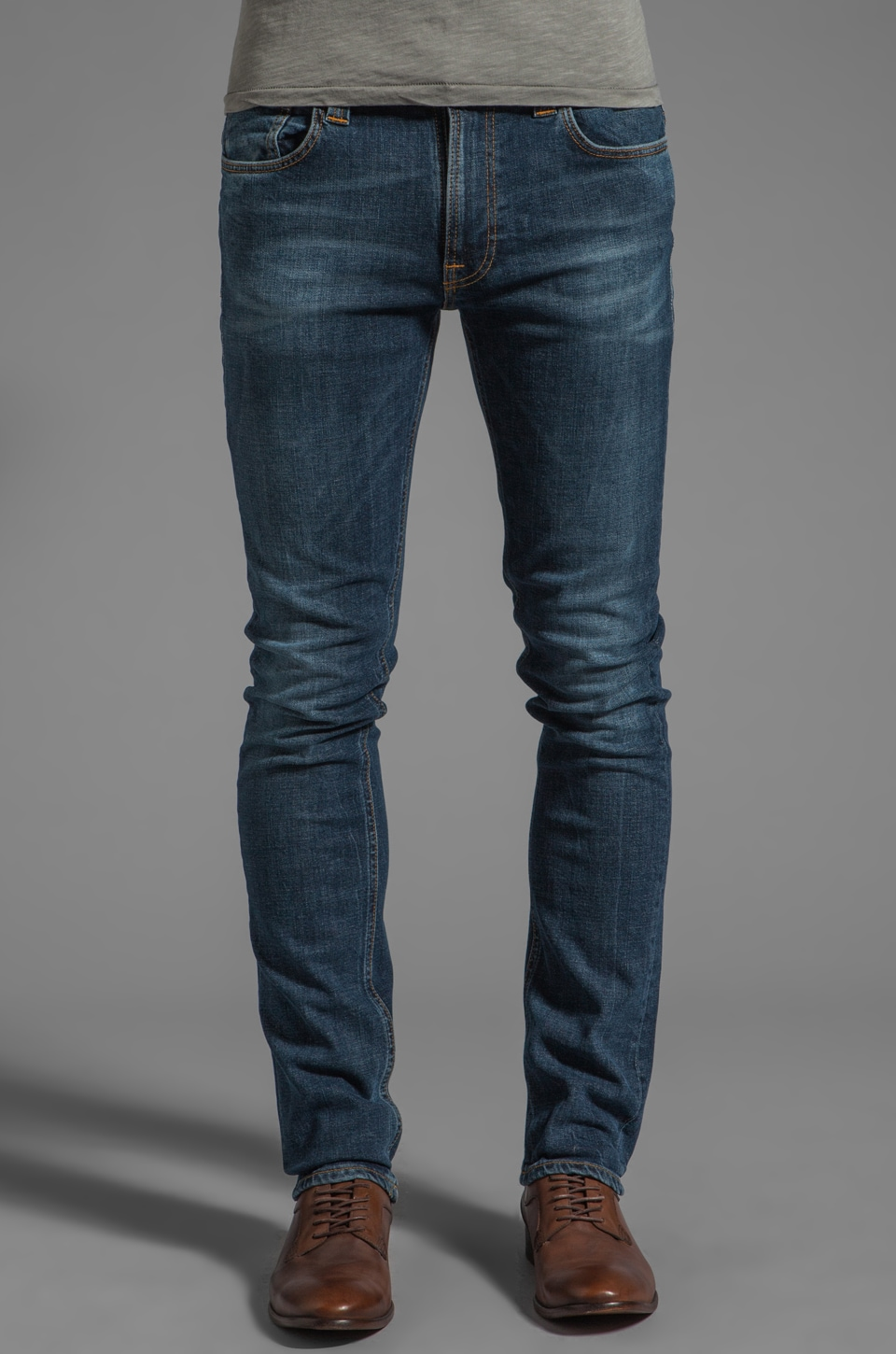 Nudie Jeans Tape Ted in Organic Authentic Snake