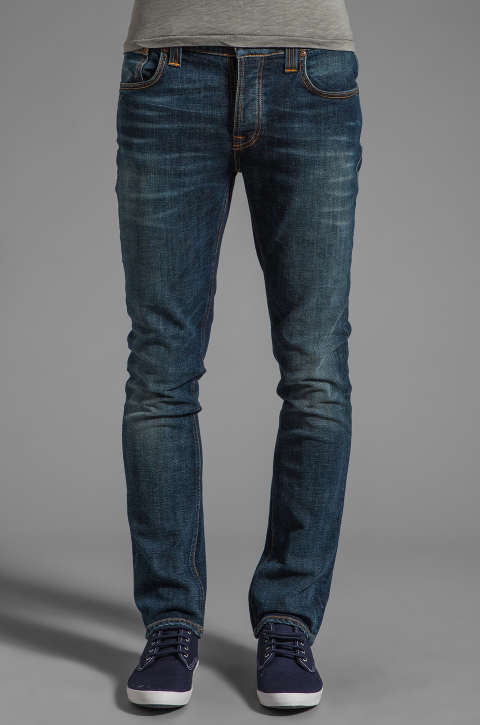 Nudie Jeans Grim Tim in Organic Crushed Denim