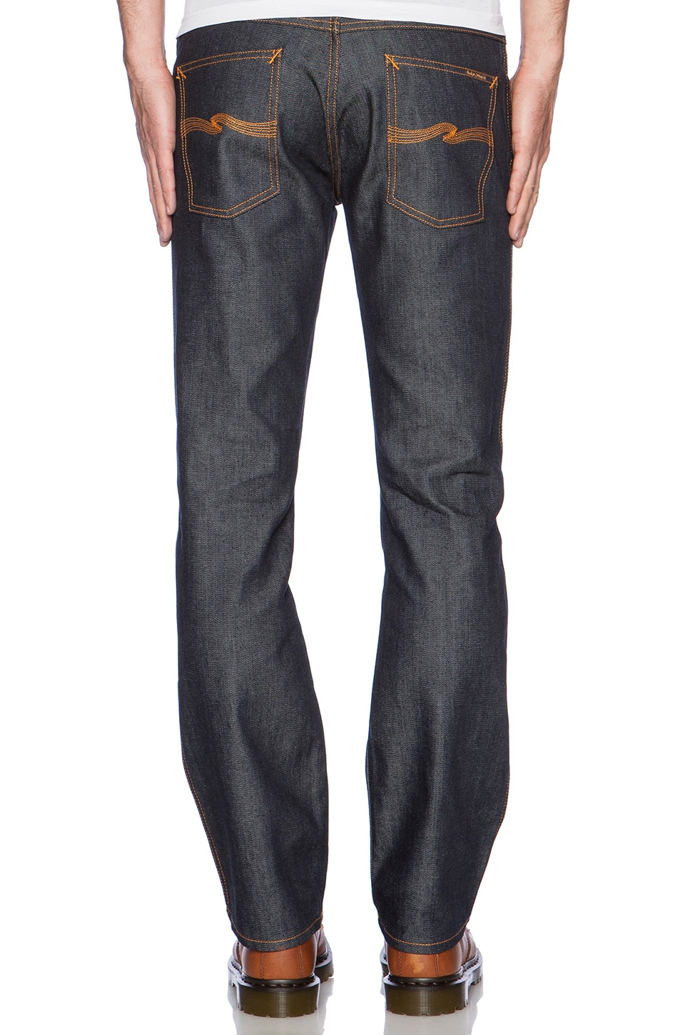Nudie Jeans Slim Jim in Organic Dry Broken Twill