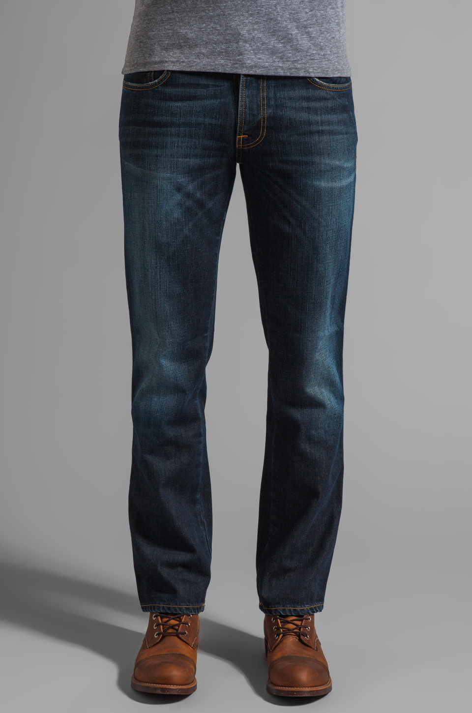 Nudie Jeans Slim Jim in Org. Slubby Rain