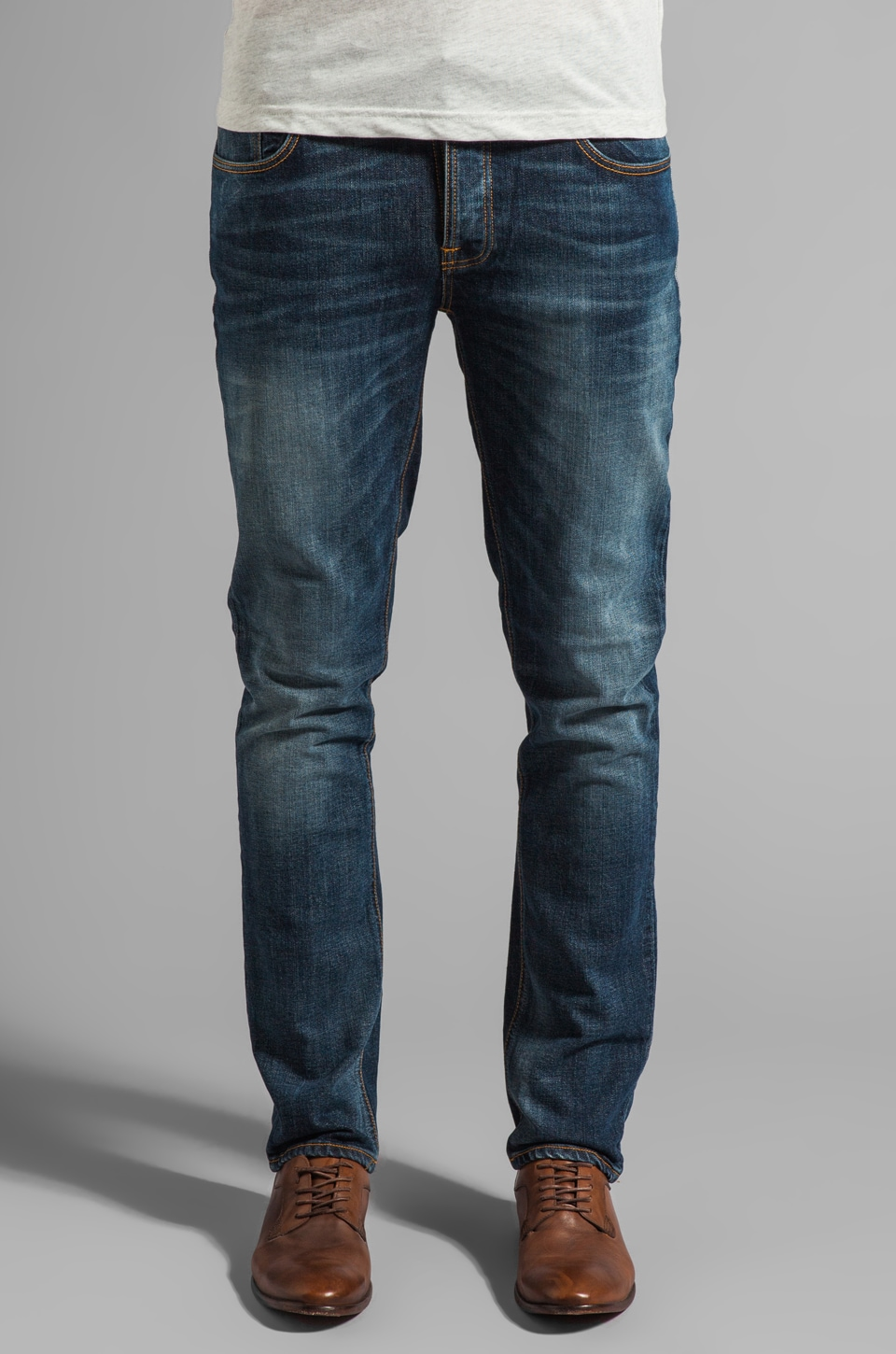 Nudie Jeans Grim Tim in Org. Teal Blue
