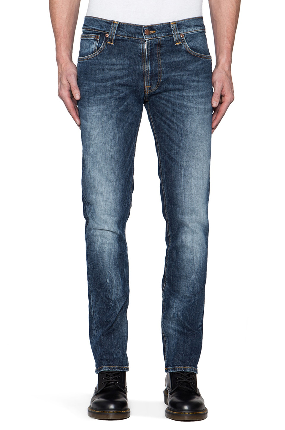 Nudie Jeans Thin Finn in Org. Midnight Worn
