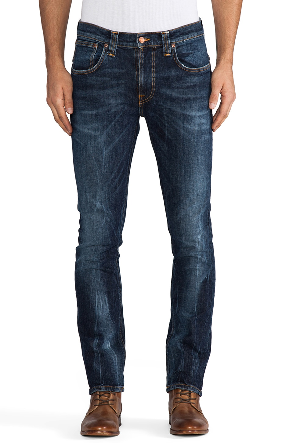 Nudie Jeans Tape Ted in Org. Clean Darkblue