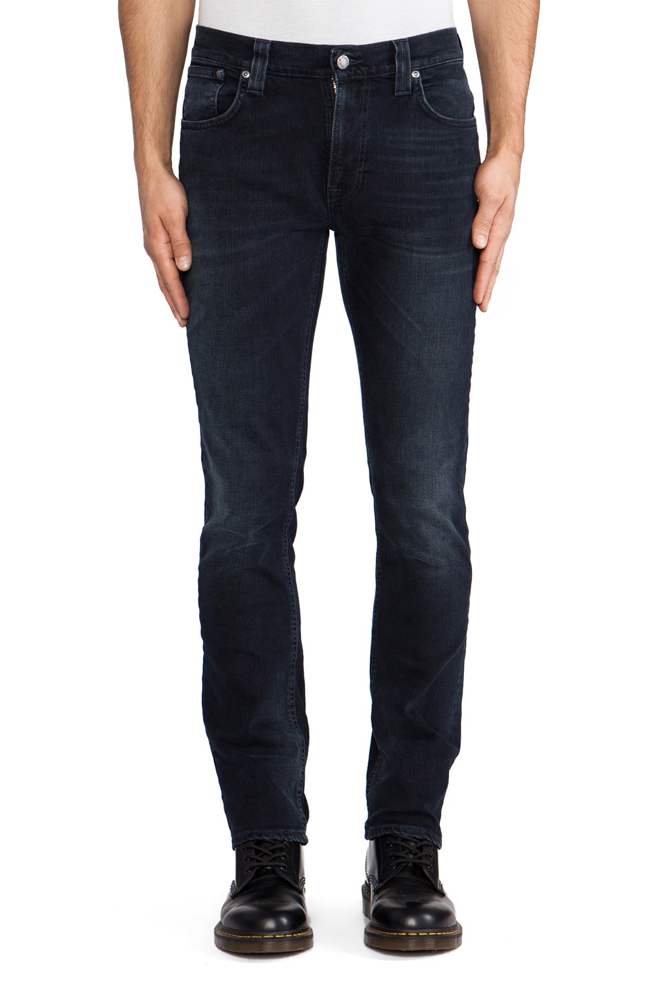 Nudie Jeans Thin Finn in Org. Blue Strike
