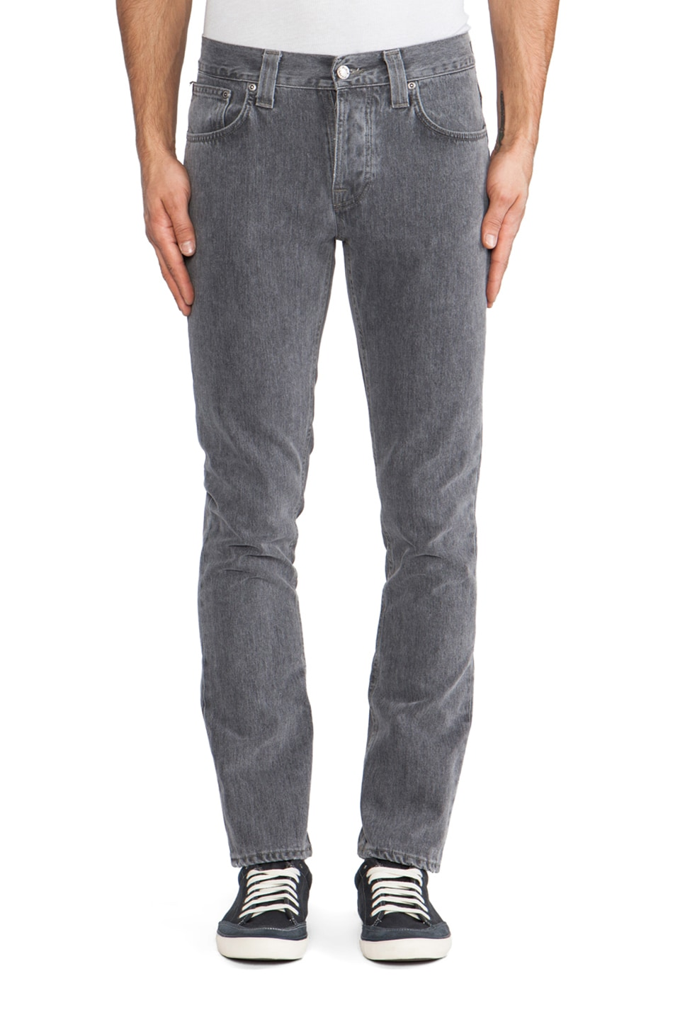 Nudie Jeans Grim Tim in Org. Grey Phantom