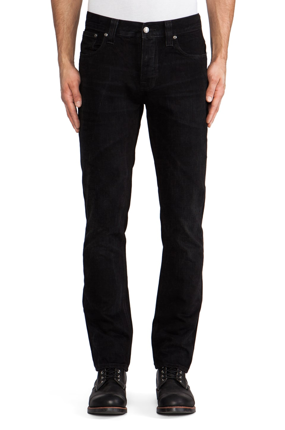 Nudie Jeans Grim Tim in Black Grease