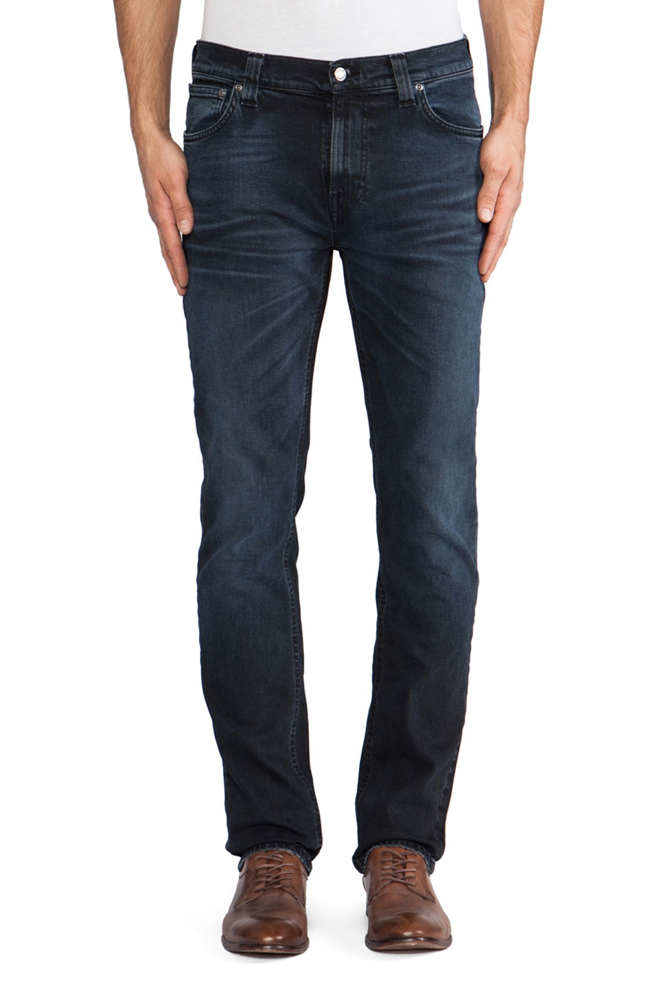 Nudie Jeans Thin Finn in Org. Blue Core