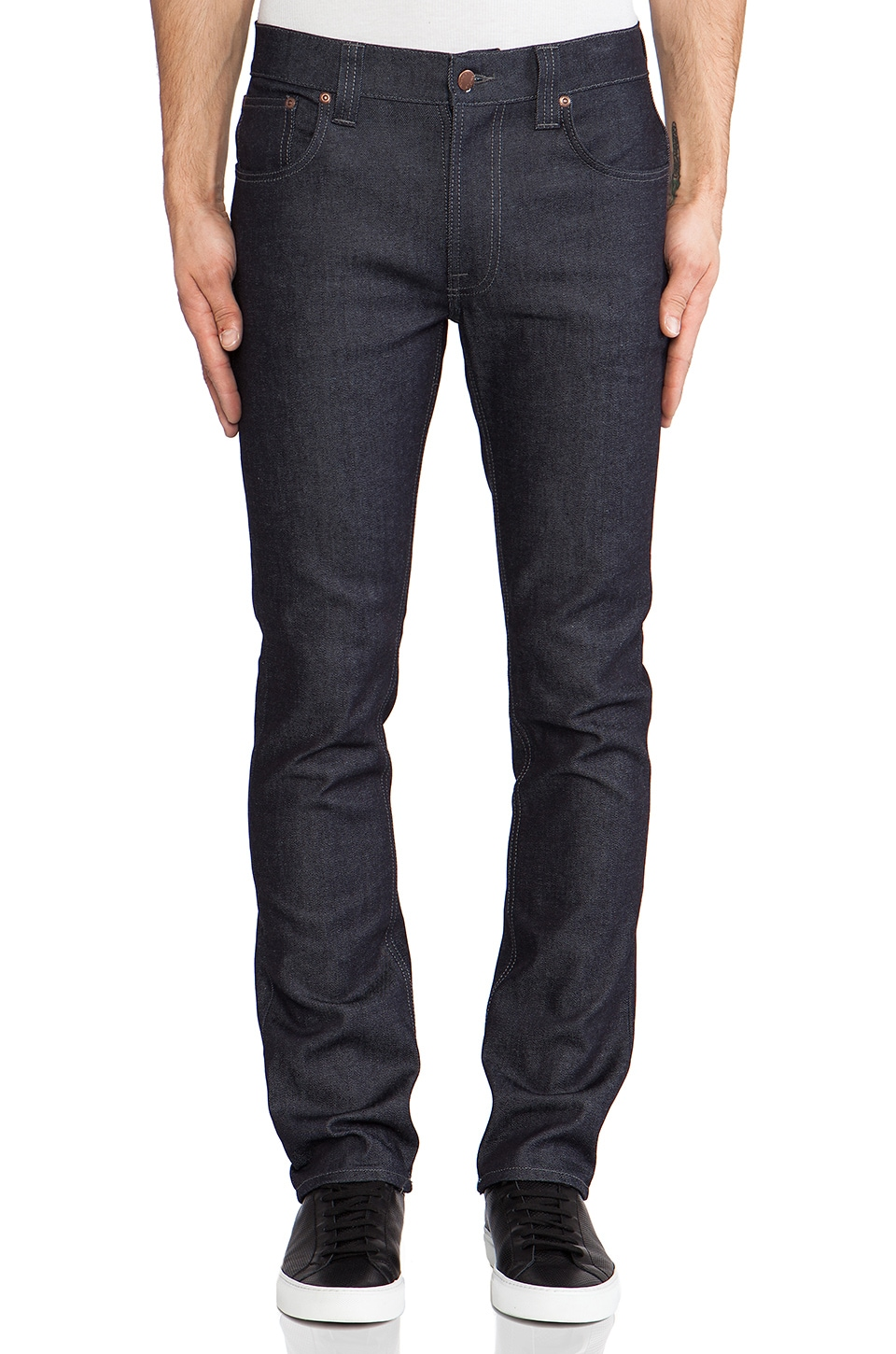 Nudie Jeans Thin Finn in Org. Dry Dark Grey