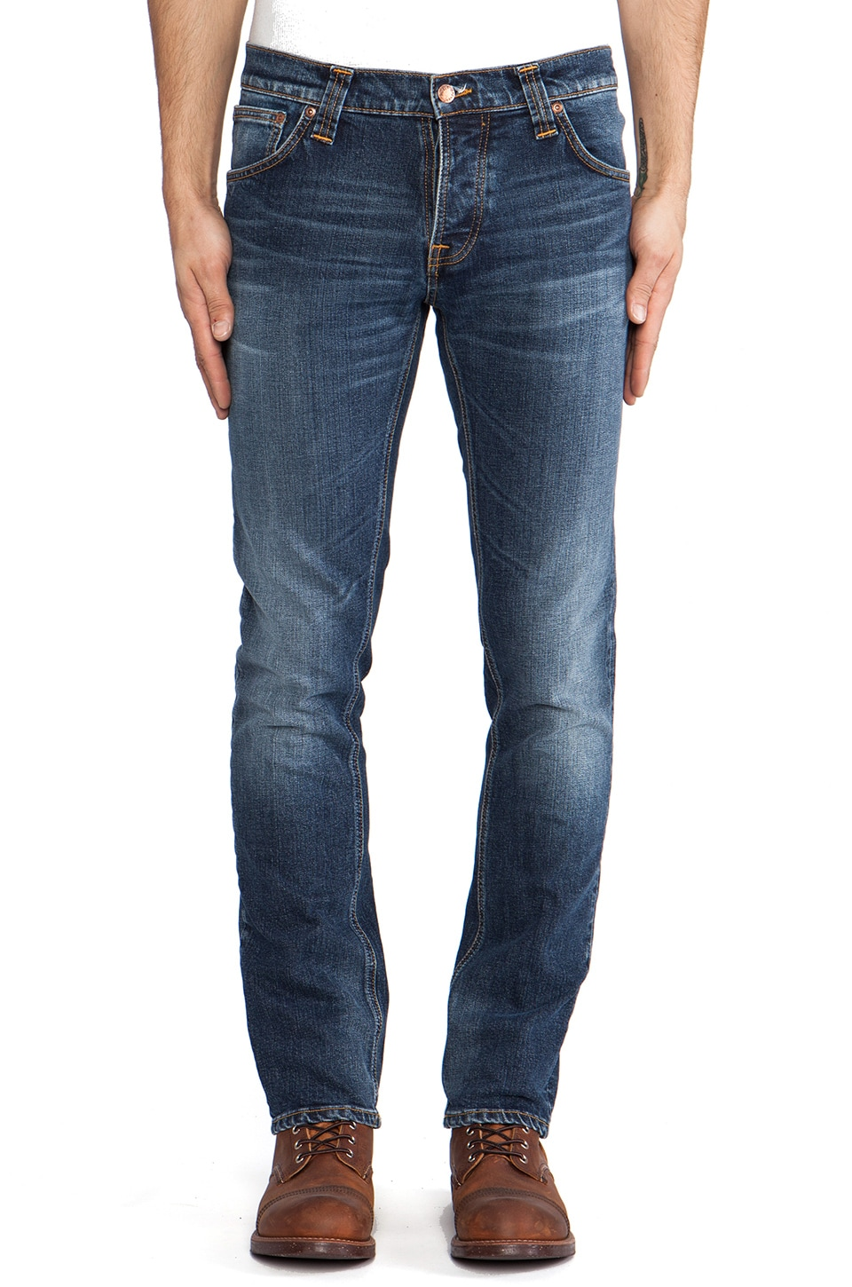 Nudie Jeans Grim Tim in Org. Twisted Blue