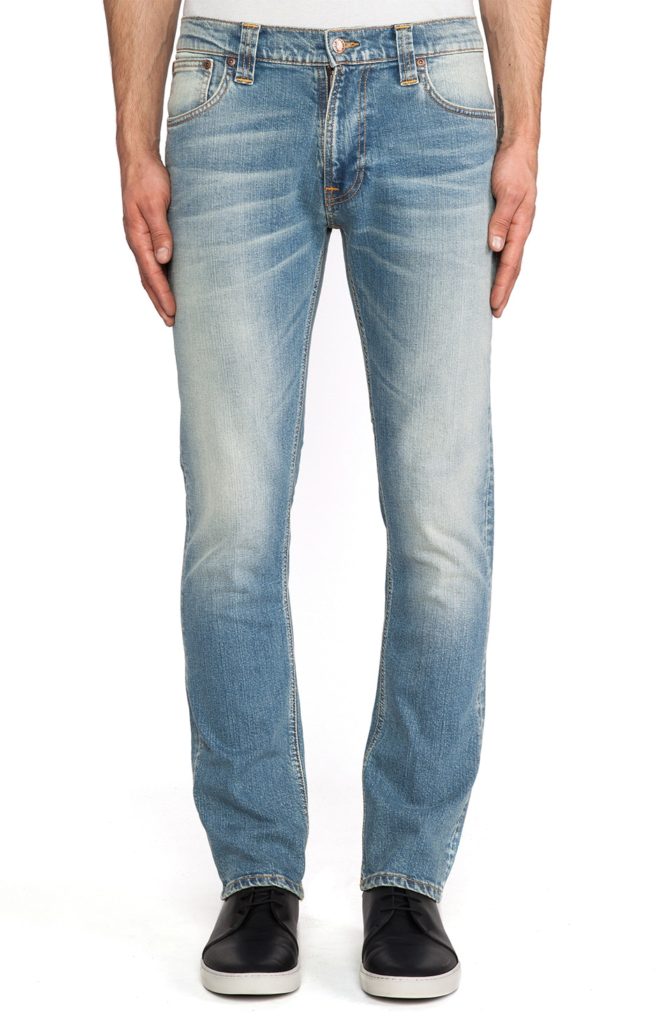 Nudie Jeans Thin Finn in Org. Jade Denim