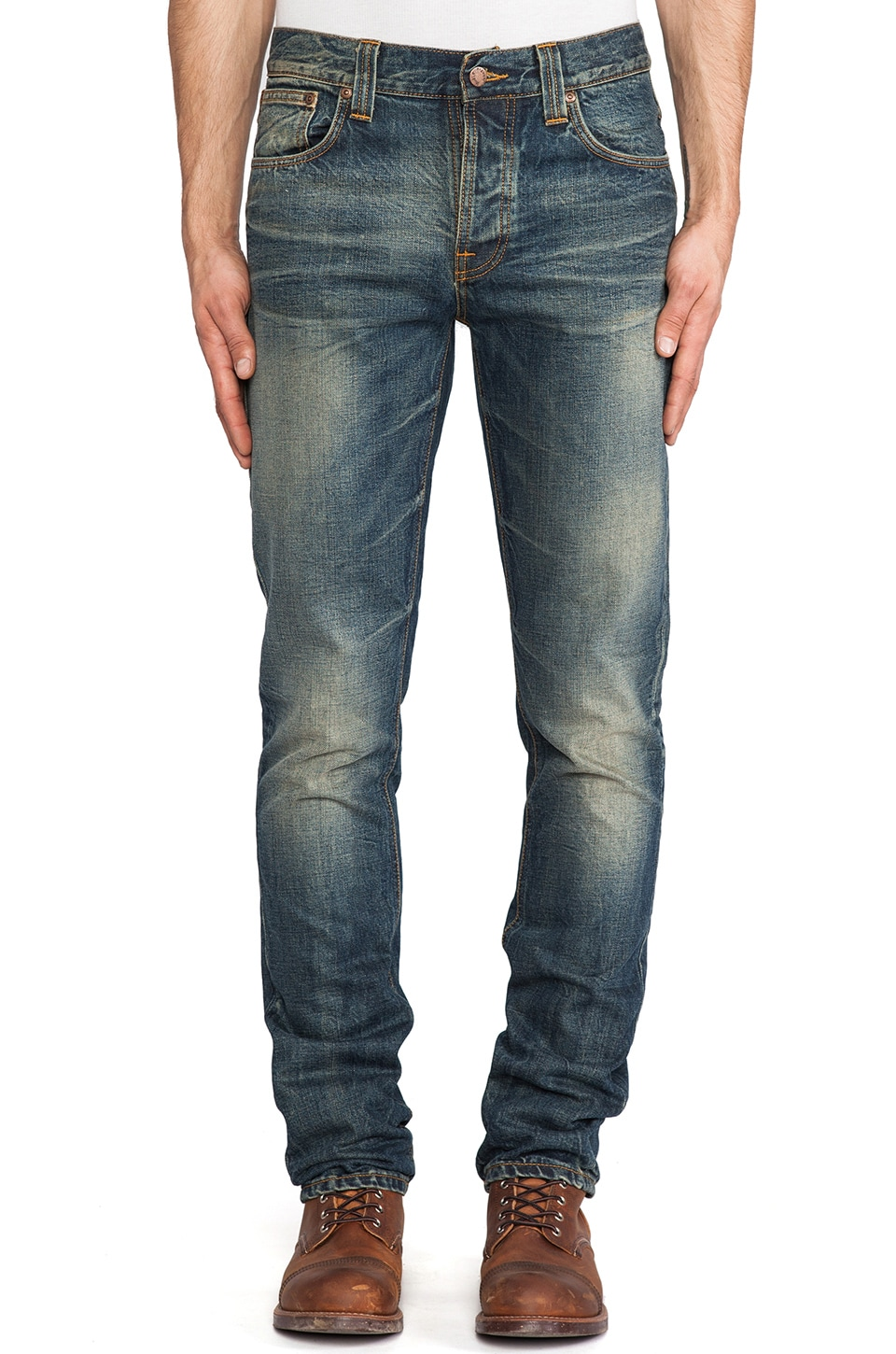 Nudie Jeans Grim Tim in Org. Gritty Blue